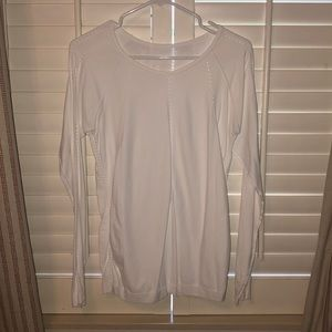 white athleta tight fit long sleeve